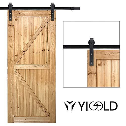 66ft Sliding Barn Door Hardware KitHardware for Barn DoorAntique StyleSliding Smoothly QuietlyFactory Outlet Upgraded Version Quality Carbon SteelFit 36-40 Wide Door Panel-J Shape Hanger