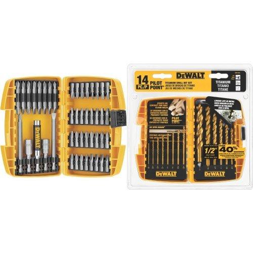 DEWALT DW2166 45-Piece Screwdriving Set with 14-Piece Titanium Drill Bit Set