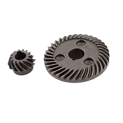 uxcell Hitachi 100 Electrical Angle Grinder Spiral Bevel Gear Set Dark Gray