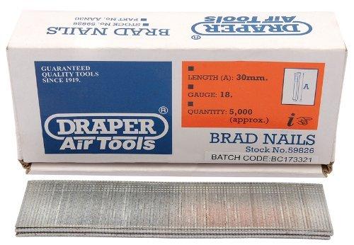 Draper air tools 59826 5000 30mm 18 gauge Nails by Draper