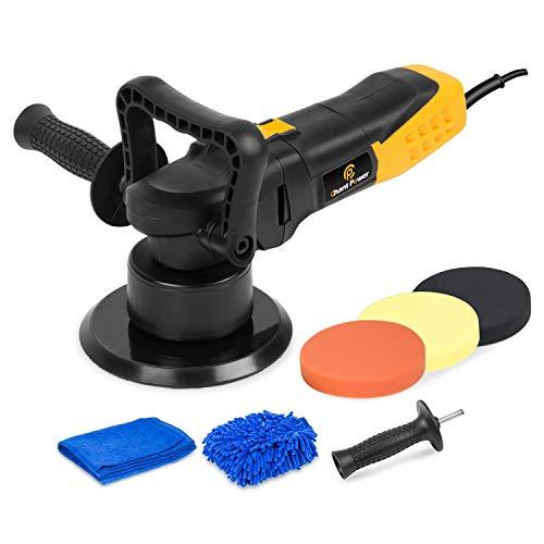 Polisher 6 Inch Dual Action Car Polisher with Variable Speed Detachable Handles 3 Foam Pads for Car Sanding Polishing Waxing Sealing Glaze C P CHANTPOWER