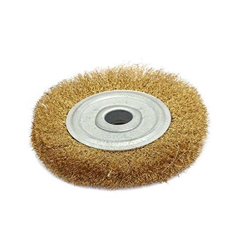 uxcell 100mm Dia Brass Wire Polishing Brush Wheel Buffing Tool Brass Tone