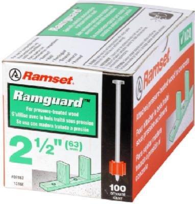 Ramset Powder Fastening Systems 3-Inch Pin w Ramguard 100 per box
