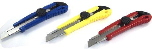 10 Pack Heavy Duty Utility Knife Box Cutter 6 Ratchet-Lock Snap Off Blade Razor