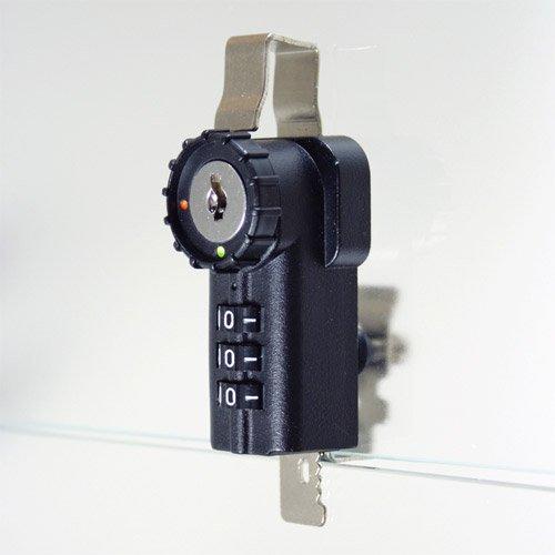 Combi-Ratchet 3-Dial Black Hinged Door Combination Lock