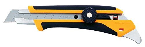 Olfa 1116110 L-5 Fiberglass Rubber Grip Ratchet-Lock Utility Knife