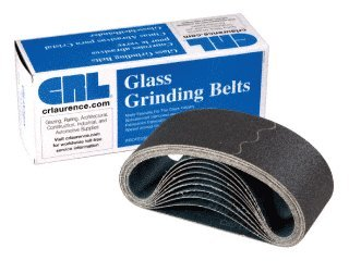 3 x 24 36X Grit Glass Grinding Belts for Portable Sanders - 10 Per Box