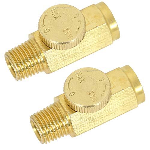 UFFY Brass In-Line Air Flow Regulator Control Tool Valve 14 NPT 2