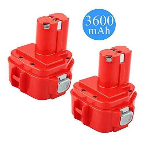 36Ah Replacement for Makita 12V Battery NI-MH 1220 1200 1201 1222 1233 1234 1235 1233S 1233SA 1233SB PA12 193157-5 192681-5 192598-2 12 Volt Cordless Power Tools 2-Pack