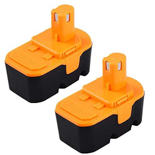 Forrat Replace for Ryobi 18v Battery NI-MH ONE Plus P100 P101 ABP1801 ABP1803 BPP1820 130224054 130224028 for Ryobi 18Volt Cordless Power Tools Batteries 2-Packs