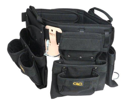CLC Custom Leathercraft 5605 Professional Carpenters Combo Tool Belt Black 18 Pocket