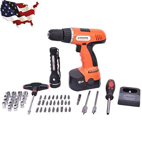 78-Piece 18 Volt 110V Cordless Drill Set Construction Work Screwdriver Good  HBR5T6Y Y341RYGE2453028