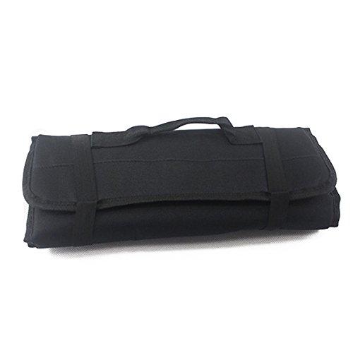NUOLUX 22-Pocket Reel Rolling Tool Bag Plier Screwdriver Spanner Carry Case Pouch