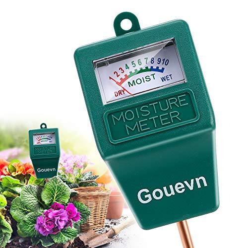 Gouevn Soil Moisture Meter Plant Moisture Meter Indoor Outdoor Hygrometer Moisture Sensor Soil Test Kit Plant Water Meter for Garden Farm Lawn No Battery Needed