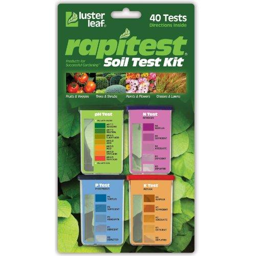 Luster Leaf 1601 Rapitest Test Kit for Soil pH Nitrogen Phosphorous and Potash
