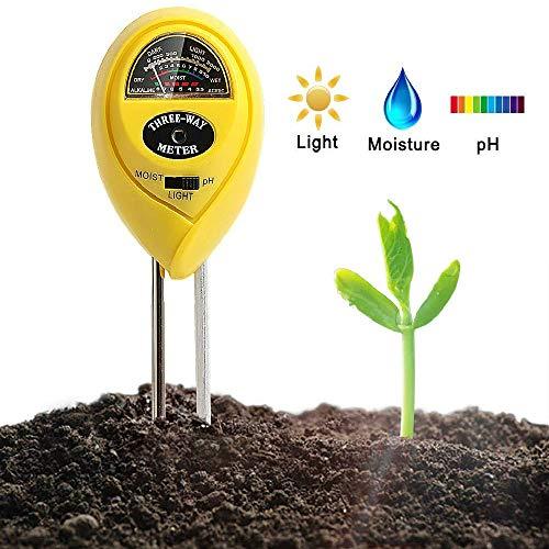 XRS Soil pH Meter Kit 3-in-1 Moisture Meter Soil Test Kit pH Soil Tester Water Meter for Indoor Plants Outdoor Soil Moisture Meter No Battery Needed