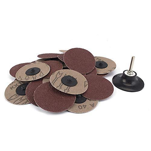 25 Piece 3 inches 40Grit Roloc sanding Disc Quick Change Sanding Discs Heavy Duty and Durable Sander - Automotive Tools Equipment Body Repair Tool