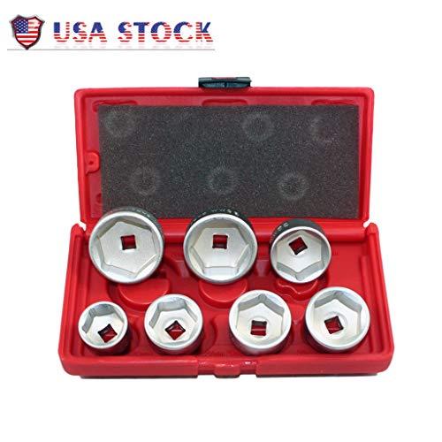 Shipping from USAutomotive Repair Tools7 PC Oil Filter Cartridge Socket Set Metric 24 27 29 30 32 36 38mm