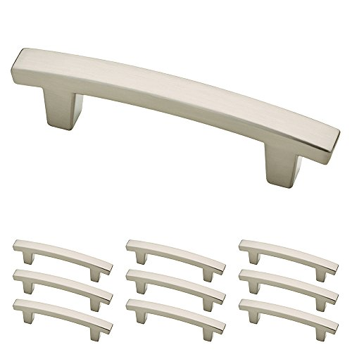 Franklin Brass P29519K-SN-B Satin Nickel 3-Inch Pierce Kitchen or Furniture Cabinet Hardware Drawer Handle Pull 10 pack