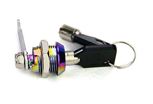 NS Tool Box Cabinet Locking 18 mm Dia Thread Cylinder Cam Lock with Two Keys