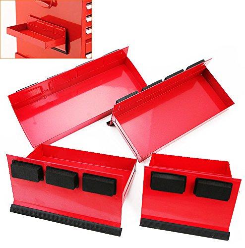 Rison 4pc Magnetic Toolbox Tray Set Tool Box Cabinet Side Shelf Storage Van Workshop