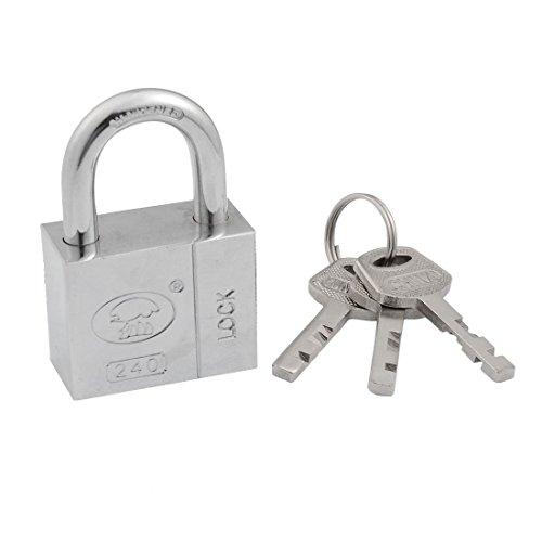 uxcell Toolbox Cabinet Door 40mm Security Lock Padlock Silver Tone w 3 Keys