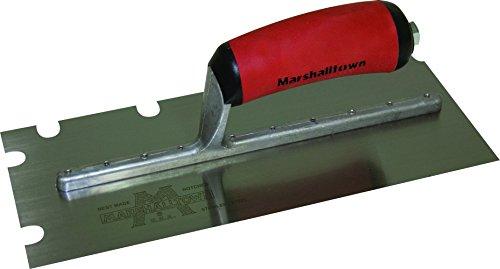 Marshalltown 5776SSD 12 x 4 12 SS Notched Trowel with 12 x 12 x 2-Inch U Durasoft Handle