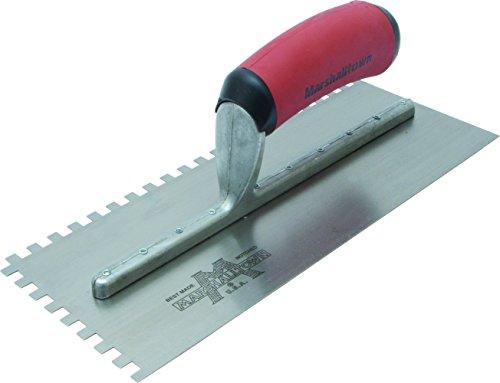 Marshalltown NT698 16-Inch Notched Trowel 14 x 38 x 14-Inch Sq-Soft Grip Handle