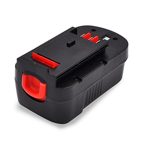 GERIT BATT for Black and Decker 18V Battery for Power Tool HPB18 Firestorm FS180BX A183000mAh