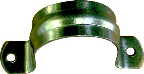 Aviditi 88990 Galvanized 2-Hole Pipe Strap 12-Inch  10-Pack