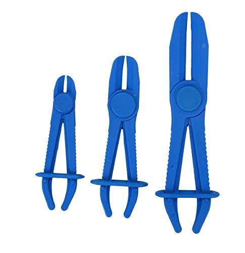 Mottdam Flexible Fuel Line Hose Pipe Clamp Plier Brake Radiator Fuel Line Tool Set 3Pcs