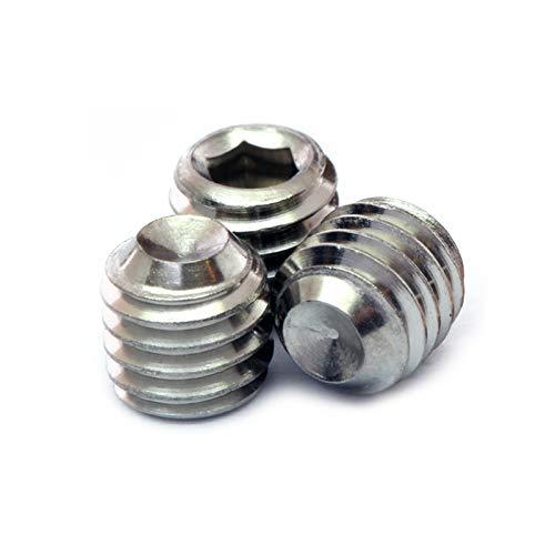 4-40 x 18 - Qty 10 - Stainless Steel Socket Set Screws Grub w Cup Point A2  18-8 InchSAE Coarse Thread Hex Allen Key Drive - MonsterBolts 4-40 x 18 10