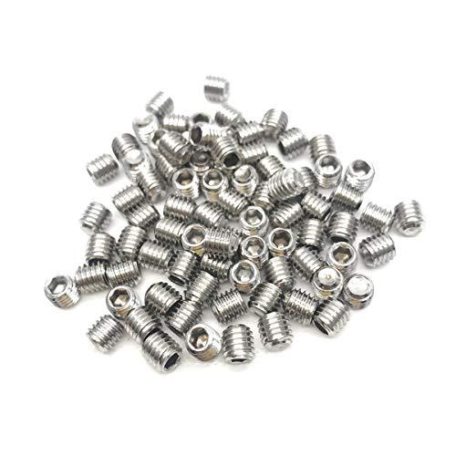 50pcs M5x5mm Stainless Steel Hex Socket Set Cap Point Grub Screws