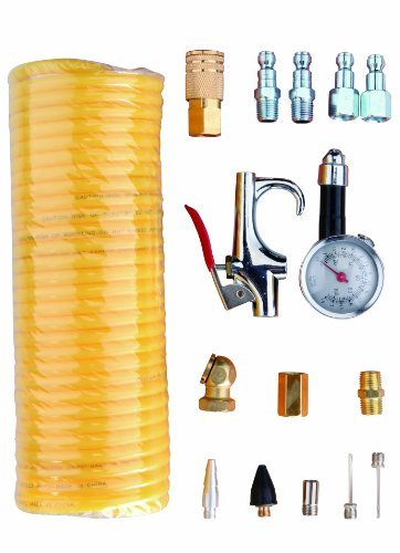 Freeman APWH1414A Automotive Pneumatic Accessory Pack with Hose 16-Piece by Freeman