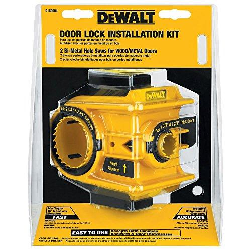 DEWALT Door Lock Installation Kit Bi-Metal D180004