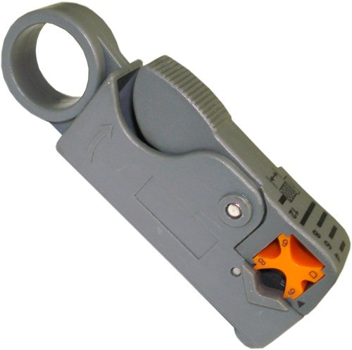 Precision Coaxial Cable Stripper RG58RG59 RG62 RG6 Thumb Wind-Style