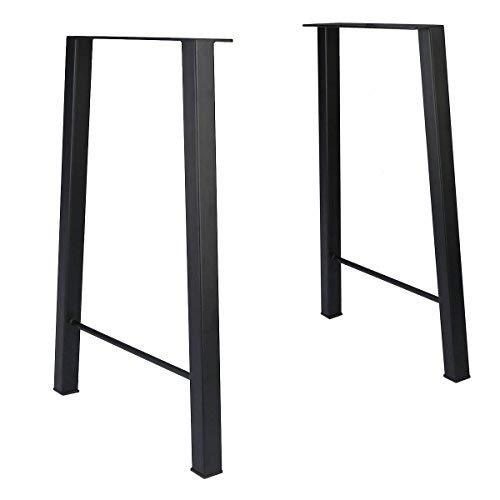Tengchang 28 Industry Trapezoid Dinner Table Leg Metal Cast Iron Bench Legs Set of 2