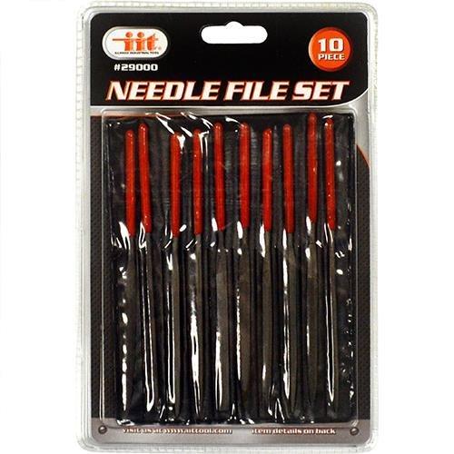 IIT 29000 10Pc Mini Needle File Set Metal Glass Stone