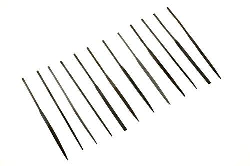 SE 7382NF Premium Quality Needle File Set 12 Piece 2mm x 100mm