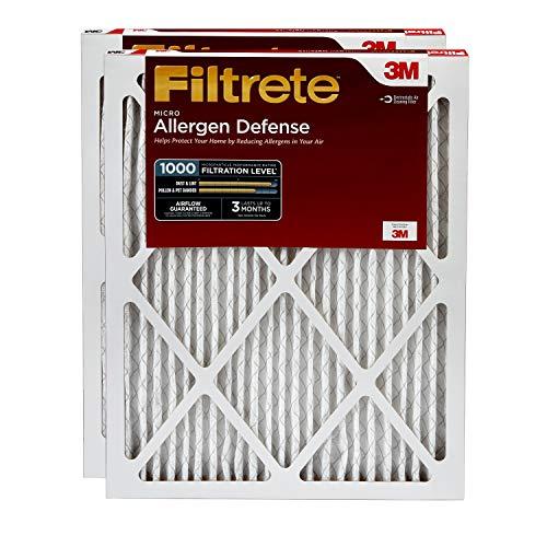 Filtrete 14x20x1 AC Furnace Air Filter MPR 1000 Micro Allergen Defense 2-Pack