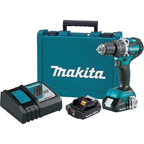 Makita XPH12R 18V LXT Lithium-Ion Compact Brushless Cordless 12 Hammer Driver-Drill Kit 20Ah
