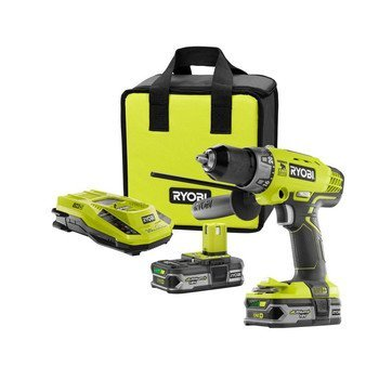 Ryobi ZRP1812 18-Volt ONE Lithium-Ion Cordless Hammer DrillDriver Combo Kit Certified Refurbished