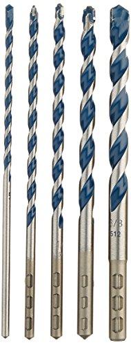 Bosch HCBG501T BlueGranite Turbo Carbide Hammer Drill Bit Set 5 Piece