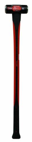 Task Tools T72317 6-Pound Sledge Hammer with  Fiberglass Handle