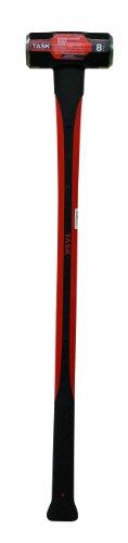 Task Tools T72318 8-Pound Sledge Hammer with  Fiberglass Handle