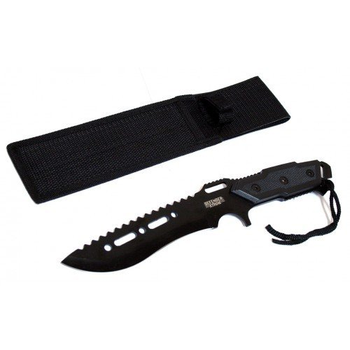 Full Tang 12 Black Blade Combat Ready Hunting Knife With Sheath