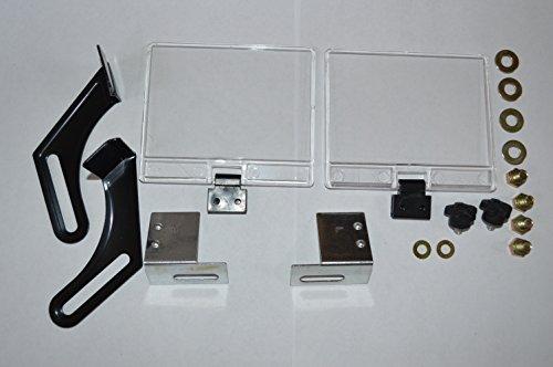 Bench grinder eye shield and brackets