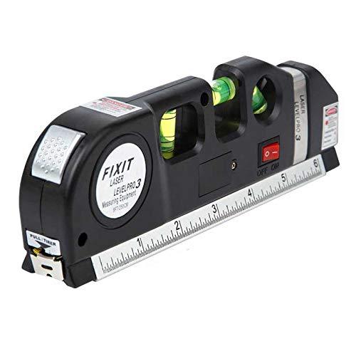Giftprod Multipurpose Laser Level Line Laser Measure  8ft Tape Ruler Adjusted Standard and Metric Rulers