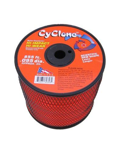Cyclone 095-Inch diameter  3-Pound Spool Commercial Grade 6-Blade Grass Trimmer Line Orange CY095S3-2