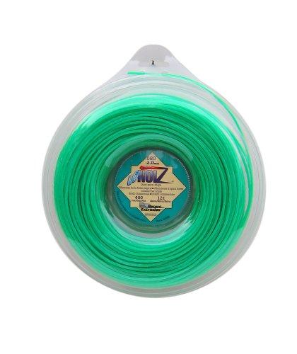 LoNoiz 080-Inch-by-400-Foot Spool Commercial Grade Spiral Twist Quiet 1-Pound Grass Trimmer Line Green LN080DLG-12